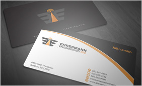 Business card designs mycroburst business card design for engineering and manufacturing company flashek Choice Image